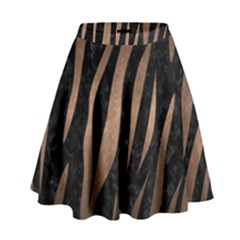 Skin3 Black Marble & Bronze Metal High Waist Skirt by trendistuff