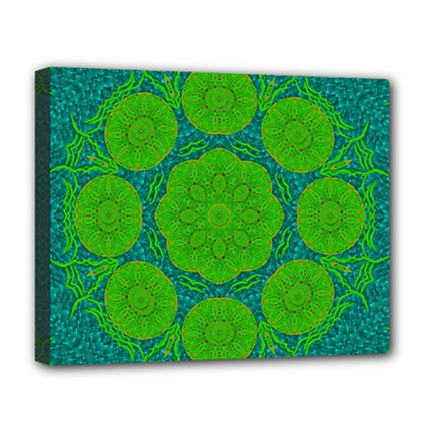 Summer And Festive Touch Of Peace And Fantasy Deluxe Canvas 20  X 16   by pepitasart