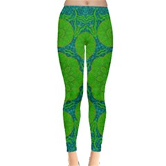 Summer And Festive Touch Of Peace And Fantasy Leggings  by pepitasart