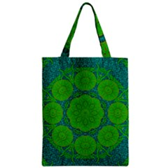 Summer And Festive Touch Of Peace And Fantasy Zipper Classic Tote Bag by pepitasart