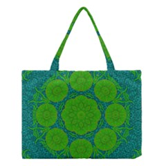 Summer And Festive Touch Of Peace And Fantasy Medium Tote Bag by pepitasart