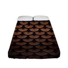 Scales3 Black Marble & Bronze Metal (r) Fitted Sheet (full/ Double Size) by trendistuff