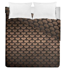 Scales3 Black Marble & Bronze Metal (r) Duvet Cover Double Side (queen Size) by trendistuff