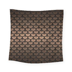 Scales3 Black Marble & Bronze Metal (r) Square Tapestry (small) by trendistuff