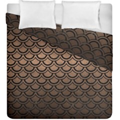 Scales2 Black Marble & Bronze Metal (r) Duvet Cover Double Side (king Size) by trendistuff