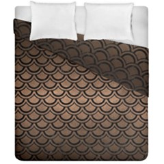 Scales2 Black Marble & Bronze Metal (r) Duvet Cover Double Side (california King Size) by trendistuff