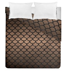 Scales1 Black Marble & Bronze Metal (r) Duvet Cover Double Side (queen Size) by trendistuff