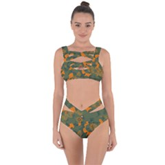 Orange Camo Melt Bandaged Up Bikini Set
