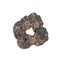 Damask2 Black Marble & Bronze Metal (r) Velvet Scrunchie by trendistuff