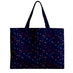 Colorful Floral Patterns Zipper Mini Tote Bag by berwies