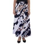 Safari Camo Flared Maxi Skirt