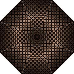 Circles3 Black Marble & Bronze Metal (r) Hook Handle Umbrella (large) by trendistuff