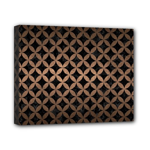 Circles3 Black Marble & Bronze Metal Canvas 10  X 8  (stretched) by trendistuff