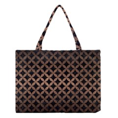 Circles3 Black Marble & Bronze Metal Medium Tote Bag by trendistuff