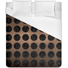 Circles1 Black Marble & Bronze Metal (r) Duvet Cover (california King Size) by trendistuff