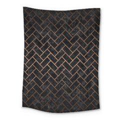 Brick2 Black Marble & Bronze Metal Medium Tapestry by trendistuff