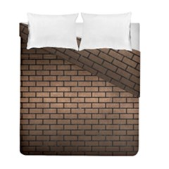 Brick1 Black Marble & Bronze Metal (r) Duvet Cover Double Side (full/ Double Size) by trendistuff