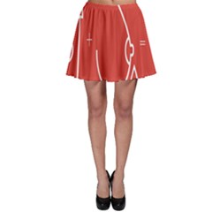 Caffeine And Breastfeeding Coffee Nursing Red Sign Skater Skirt by Mariart
