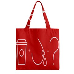 Caffeine And Breastfeeding Coffee Nursing Red Sign Grocery Tote Bag by Mariart
