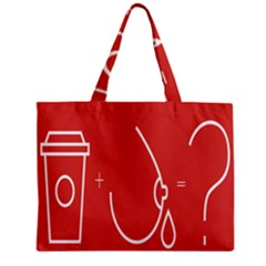 Caffeine And Breastfeeding Coffee Nursing Red Sign Mini Tote Bag by Mariart