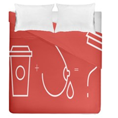Caffeine And Breastfeeding Coffee Nursing Red Sign Duvet Cover Double Side (queen Size) by Mariart