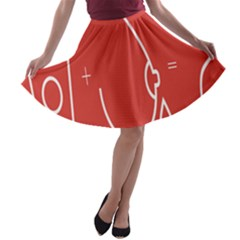 Caffeine And Breastfeeding Coffee Nursing Red Sign A Line Skater Skirt by Mariart