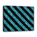 STRIPES3 BLACK MARBLE & BLUE-GREEN WATER (R) Deluxe Canvas 20  x 16  (Stretched) View1