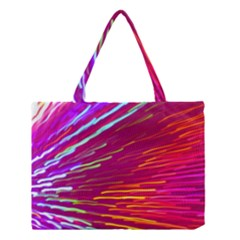 Zoom Colour Motion Blurred Zoom Background With Ray Of Light Hurtling Towards The Viewer Medium Tote Bag by Mariart
