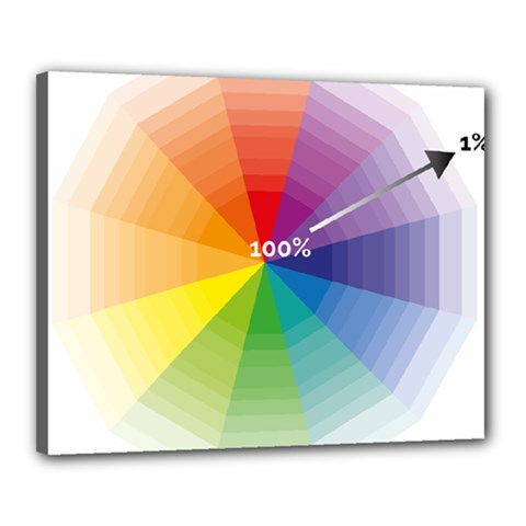 Colour Value Diagram Circle Round Canvas 20  X 16  by Mariart