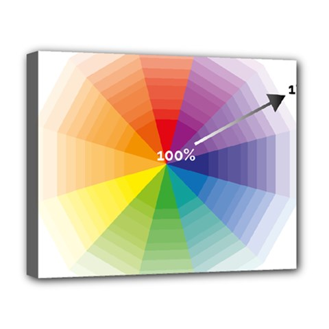 Colour Value Diagram Circle Round Deluxe Canvas 20  X 16   by Mariart