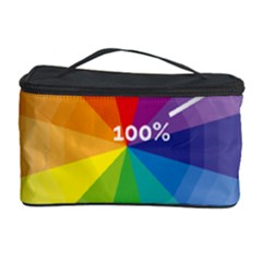 Colour Value Diagram Circle Round Cosmetic Storage Case by Mariart