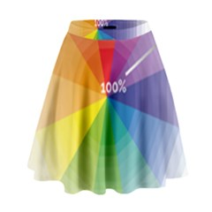 Colour Value Diagram Circle Round High Waist Skirt by Mariart