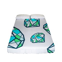 Brilliant Diamond Green Blue White Fitted Sheet (full/ Double Size) by Mariart