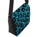 SKIN5 BLACK MARBLE & BLUE-GREEN WATER Flap Closure Messenger Bag (S) View2