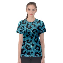 Skin5 Black Marble & Blue Green Water Women s Sport Mesh Tee