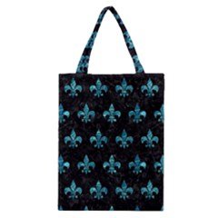 Royal1 Black Marble & Blue Green Water (r) Classic Tote Bag by trendistuff