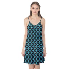 Circles3 Black Marble & Blue Green Water (r) Camis Nightgown  by trendistuff