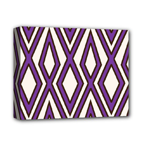 Diamond Key Stripe Purple Chevron Deluxe Canvas 14  X 11  by Mariart