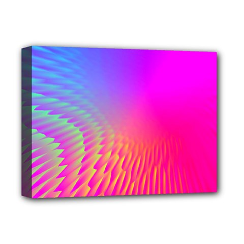 Light Aurora Pink Purple Gold Deluxe Canvas 16  X 12   by Mariart