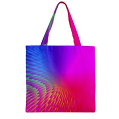 Light Aurora Pink Purple Gold Zipper Grocery Tote Bag by Mariart