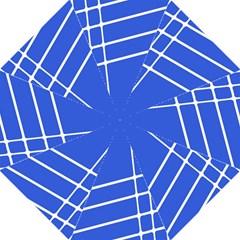 Line Stripes Blue Hook Handle Umbrellas (large) by Mariart
