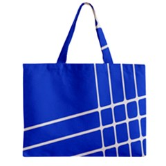 Line Stripes Blue Mini Tote Bag by Mariart