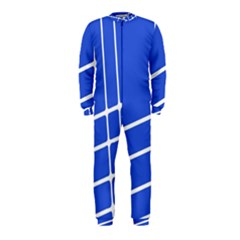 Line Stripes Blue Onepiece Jumpsuit (kids) by Mariart