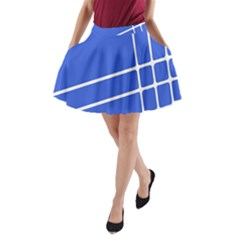 Line Stripes Blue A Line Pocket Skirt by Mariart