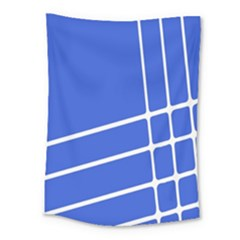 Line Stripes Blue Medium Tapestry by Mariart