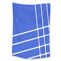 Line Stripes Blue Large Tapestry by Mariart