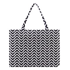 Funky Chevron Stripes Triangles Medium Tote Bag by Mariart
