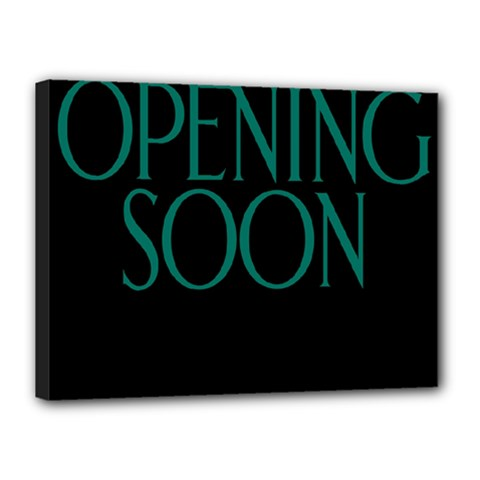 Opening Soon Sign Canvas 16  X 12  by Mariart