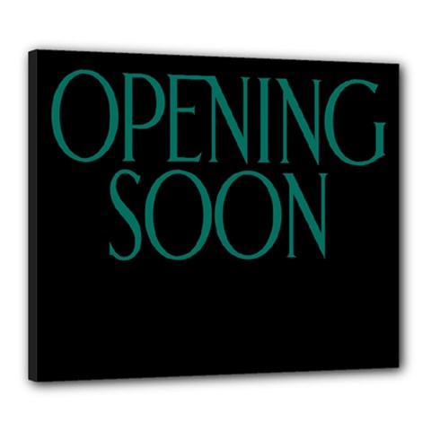 Opening Soon Sign Canvas 24  X 20  by Mariart