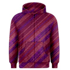 Maroon Striped Texture Men s Zipper Hoodie by Mariart